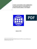WBG IIWG Practical Solutions and Models Institutional Investors EMDEs
