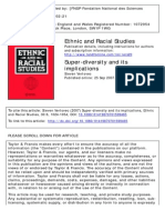 Steven Vertovec (2007) Super-diversity and Its Implications, Ethnic and Racial Studies, 30.6, 1024-1054