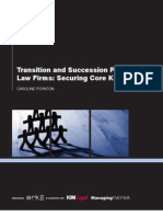 Transition and Succession Planning for Law Firms Securing Core Knowledge