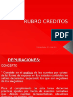 RUBRO_CREDITOS_DEPURACION