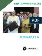 Current Affairs Magazine - February, 2015 - ExamPundit_final