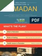 Healthcare Considerations in Ramadan