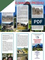 Conociendo Machu Picchu1