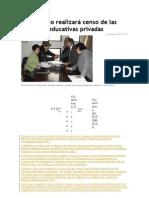 Censo de Las Unidades Educativas Privadas