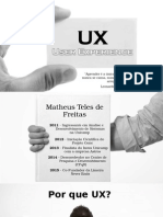 Apresentação UX - User Experience (Matheus Teles de Freitas - UNICAMP)