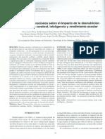 Algunas Consideraciones Sobre El Impacto de La Desnutricion en e1desarrollo Cerebral, Inteligencia y Rendimiento Escolar