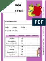4to Grado - Examen Final (2014-2015)