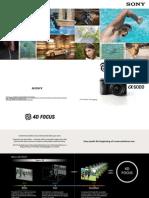 ILCE-6000 4DFOCUS Camera Settings Guide