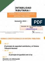1° SEM Normas Constitucionales en Materia Tributaria 2015-2