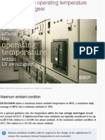operating temperature within LV switchgear | EEP