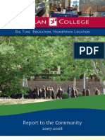 Gavilan College Annual Report 2007-2008