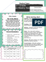 3rd weekly newsletter template tpt-aug 24
