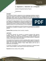 Programa Para La Adquisición y Desarrollo de La Ortografía Reglada