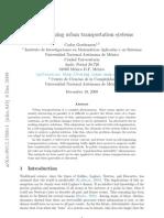 Self-organizing urban transportation systems