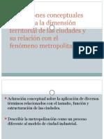 Sistemas Urbanos. Conceptos y Coordinación Metropolitana.
