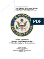 HAMP - Treasury Department's   Mortgage Modification Programs - A Failure Prolonging the Economic Crisis