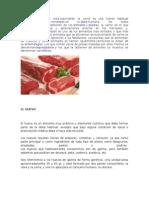 Informacion de Carne, Huevo y Lacteos