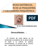 2.2 Tendencias Históricas Evolución de La Psiquiatría y Enfermería Psiquiátrica