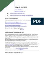 News Brief 2003-03-26
