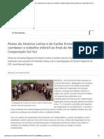 Países Da América Latina e Do Caribe Firmam Acordos Para Combater o Trabalho Infantil Ao Final de Mesa de Cooperação Sul-Sul