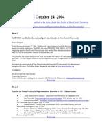 News Brief 2004-10-24
