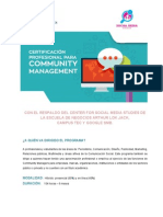 Certificación profesional para Community Managers