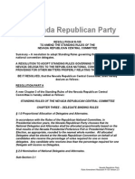 NV Republican Central Committee Rules Final Draft Delegate Binding June 2015