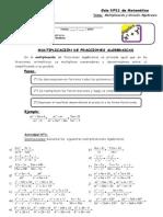 Guía Nº11 -Multiplicación y División Algebraica