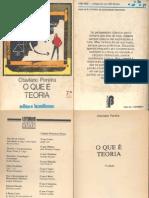 O QUE É TEORIA - Otaviano Pereira