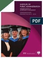 IPA Undergraduate Prospectus