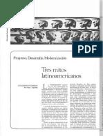 Progreso, Desarrollo, Modernización. Tres Mitos Latinoamericanos