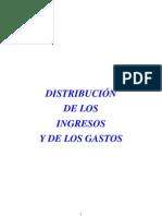 DISTRIBUCIÓN INGRESOS GASTOS 2009