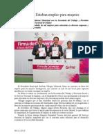 06.12.2013 Comunicado Impulsa Esteban Empleo Para Mujeres