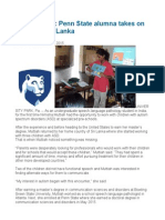 Filling a Void Penn State Alumna Takes on Autism in Sri Lanka