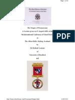 Origins of Freemasonry Knights Templar