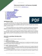 Analisis Del Libro Como Nace El Derecho de Francesco Carnelutti
