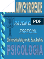 Test Raven Matrices Progresivas Niños