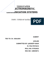 Term Paper of Electromagnetic Communication Systems