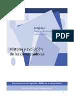 Modulo I - Historia y Evolucion de Las Computadoras