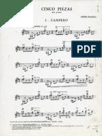 Cinco Piezas para guitarra - Piazzolla Ástor