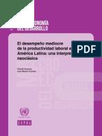 El Desempeño Mediocrede La Productividad Laboral en América Latina Una Interpretación Neoclásica