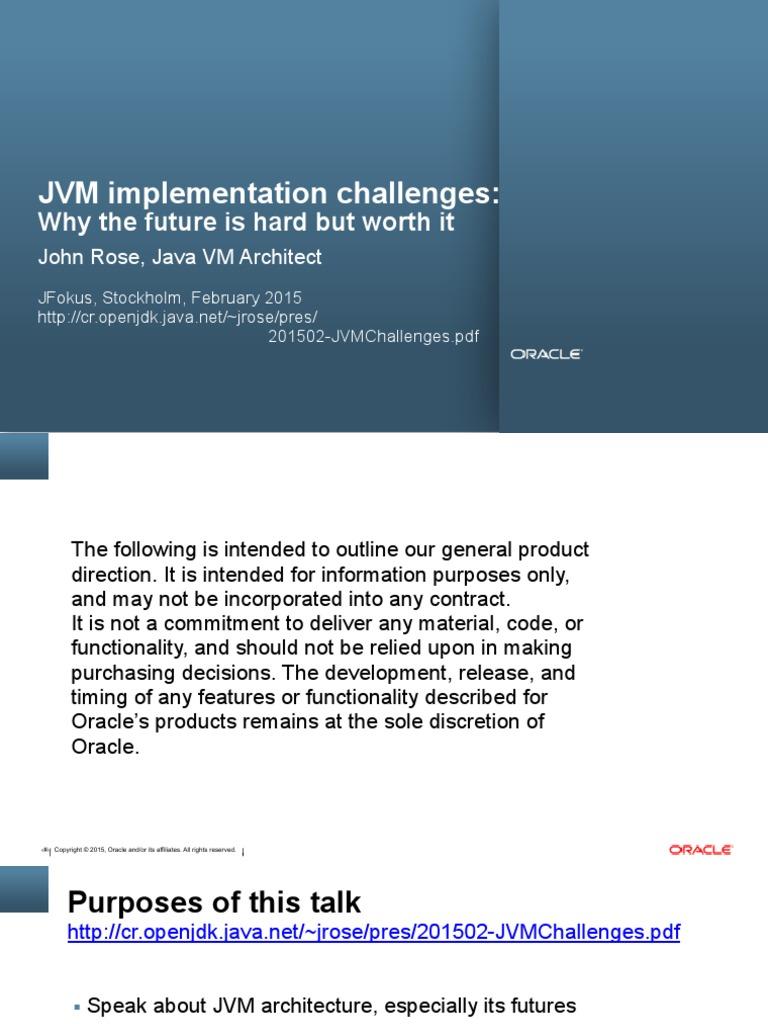 JVM Implementation Challenges   Java Virtual Machine   Java