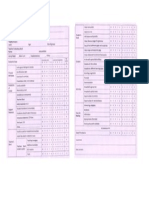 Sample 1 Checklist