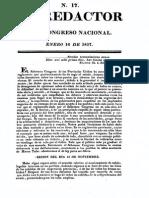 El Redactor Del Congreso de Tucumán 1817