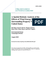A Spatial Hedonic Analysis of the Effects of Wind Energy Facilities on Surrounding Property Values in the United States