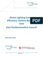 East Dunbartonshire Council Street Lighting Business Case