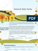 Lecture Interest Rate Parity