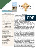 church bulletin for 8-30-2015