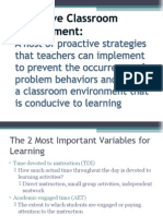 16 Proactive Classroom Management