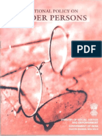 National Policy on Older Persons,1999